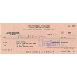Tennessee Williams Signed Check