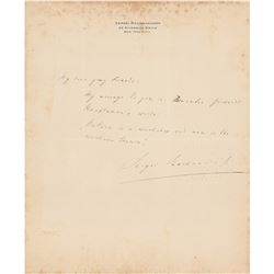 Sergei Rachmaninoff Autograph Letter Signed