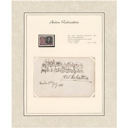 Anton Rubinstein Autograph Musical Quotation Signed