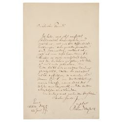 Richard Wagner Autograph Letter Signed
