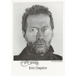 Eric Clapton Signed Photograph
