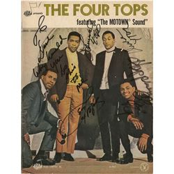 Four Tops Signed Sheet Music Book
