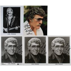 Carl Perkins (5) Signed Photographs