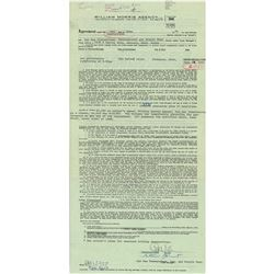 The Temptations Document Signed and (4) Endorsed Checks