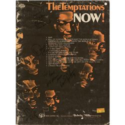 The Temptations Signed Sheet Music Book