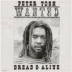 Peter Tosh Signed Album