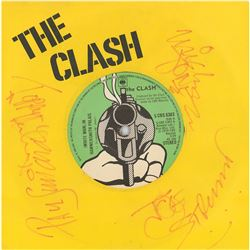 The Clash Signed 45 RPM Record