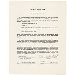 Sonny and Cher (2) Documents Signed