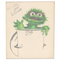 Jim Henson Signed Sketch and Letter