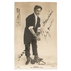 Harry Houdini Signed Photograph