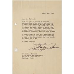 Marilyn Monroe Typed Letter Signed