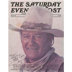 John Wayne Signed Magazine Cover