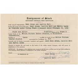 Lucille Ball and Desi Arnaz Document Signed