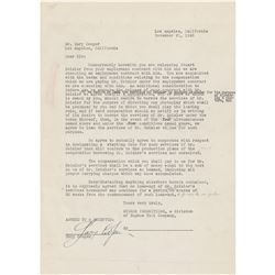 Gary Cooper Document Signed