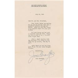 Joan Crawford Typed Letter Signed
