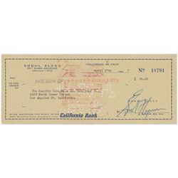 Errol Flynn Signed Check