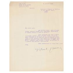 Abel Gance Typed Letter Signed