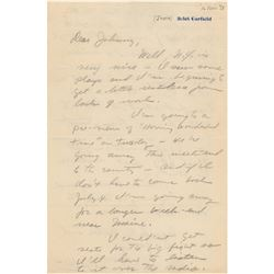 John Garfield Autograph Letter Signed
