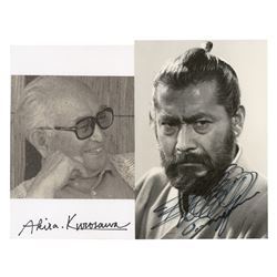 Akira Kurosawa and Toshiro Mifune (2) Signed Items