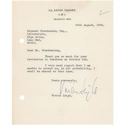 Vivien Leigh Typed Letter Signed