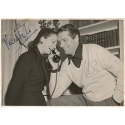 Vivien Leigh and Laurence Olivier Signed Photograph