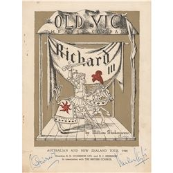 Vivien Leigh and Laurence Olivier Signed Program