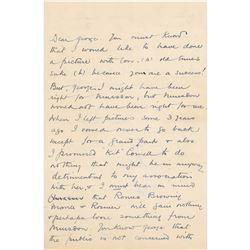 Basil Rathbone Autograph Letter Signed