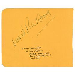 Basil Rathbone Signature