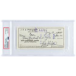 Robert Redford Signed Check