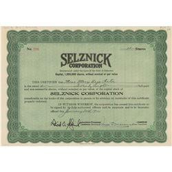 David O. Selznick Document Signed