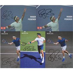 Roger Federer (5) Signed Promo Cards