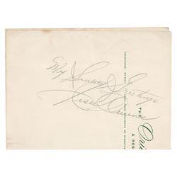Jesse Owens Signature