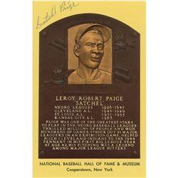 Satchel Paige Signed Hall of Fame Card