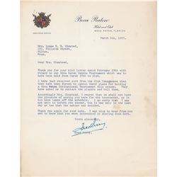 Fred Perry Typed Letter Signed