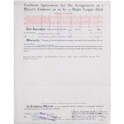 Horace Stoneham (12) Documents Signed