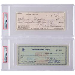 Ted Williams and Bill Terry (2) Signed Checks