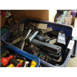 TOTE OF TV REMOTES