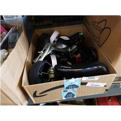 BOX OF BIKE PARTS