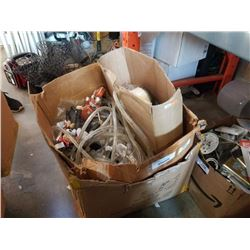 BOX OF ROPELIGHTS, MOTORCYCLE DOG AND MORE