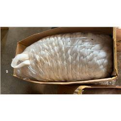 Box of white New Zealand wool yarn