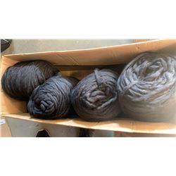 Box of blacks New Zealand wool yarn