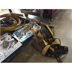 Fall arrest harnesses, two trays of sockets and bits with pneumatic Pistons