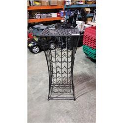 Metal 4ft wine rack with shelf