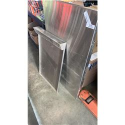 2 Stainless steel shelves