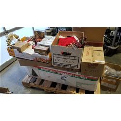 Large lot of Christmas tree and decorations