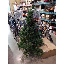6FT ARTIFICIAL CHRISTMAS TREE, 4 STRINGS OF LIGHTS AND 16 EXTRA BULBS