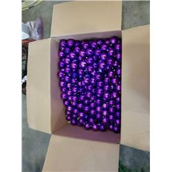 BOX OF 100+ PURPLE BALL ORNAMENTS