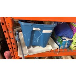 TOTE OF GLOVES, ELECTRONICS, BELTS