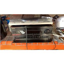 ONKYO AC RECEIVER AND TECHNICS RECORD PLAYER - BOTH AS IS