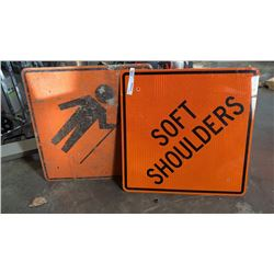 2 CONSTRUCTION SIGNS